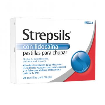 STREPSILS LIDOCAINA 24 PASTILLAS